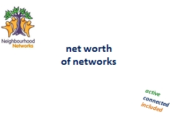 net worth  of networks active