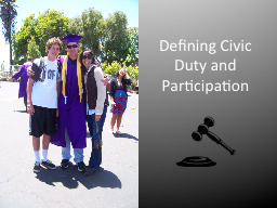 Defining Civic Duty and Participation