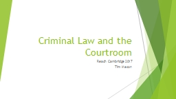 Criminal Law and the Courtroom