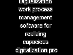 DIGIFLOW Digitalization work process management software for realizing capacious digitalization pro