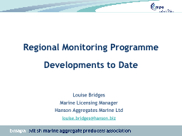 Regional Monitoring Programme