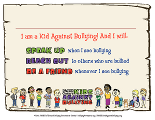 I am a Kid Against Bullying And I will when I see bull