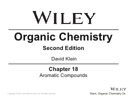 Chapter 18 Aromatic Compounds