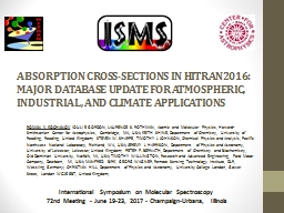 ABSORPTION CROSS-SECTIONS IN HITRAN2016: MAJOR DATABASE UPDATE FOR ATMOSPHERIC, INDUSTRIAL, AND CLI