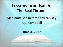 Lessons from Isaiah   The Real Throne