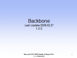 Backbone Last Update 2009.02.27