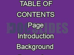 The Essentials of Doctoral Education for Advanced Nursing Practice October  TABLE OF CONTENTS Page Introduction Background  Comparison Between ResearchFocused and PracticeFocused Doctoral Education