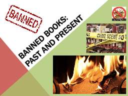 Banned Books:   Past and present