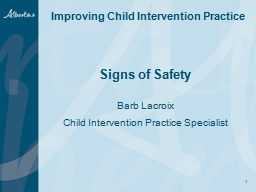 Signs of Safety   Barb Lacroix