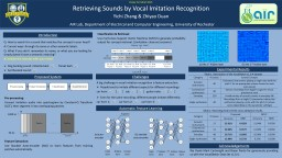 Retrieving  Sounds by Vocal Imitation Recognition