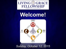 Welcome! Sunday, October 12, 2015