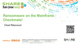 Ransomware on the Mainframe