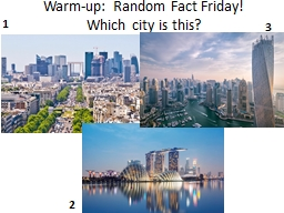 Warm-up: Monday Choose one: Where would you want to live when you are an adult:  urban, suburban, o