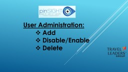 User Administration: Add