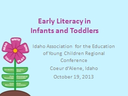 Early Literacy in  Infants and Toddlers PowerPoint PPT Presentation