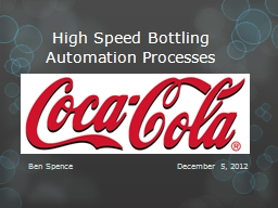 High Speed Bottling Automation Processes