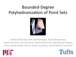 Bounded-Degree Polyhedronization of Point Sets