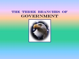 THE  THREE  BRANCHES  OF