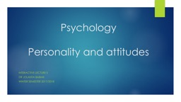 Psychology Personality  and