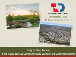City of San Angelo Solid Waste Services