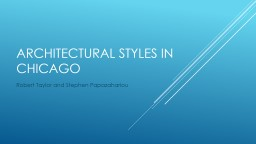 Architectural styles in Chicago