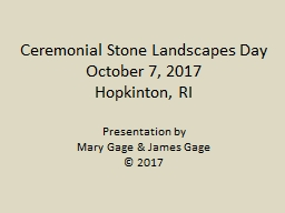 Ceremonial Stone Landscapes Day