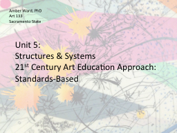 Unit 5:  Structures & Systems PowerPoint PPT Presentation