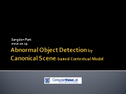 Abnormal Object Detection