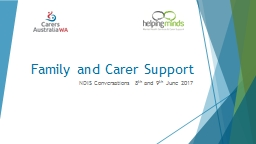Family and Carer Support