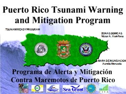 TSUNAMI READY PROGRAM        ZONAS SISMICAS PowerPoint PPT Presentation