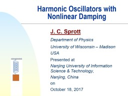Harmonic Oscillators with Nonlinear Damping