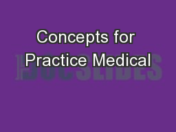Concepts for Practice Medical