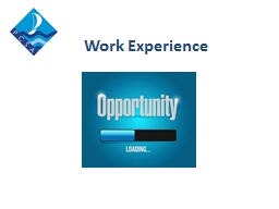 Work Experience 60 % Of Jobs are never advertised