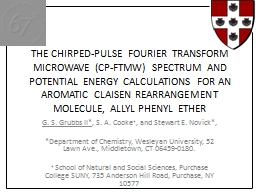 THE CHIRPED-PULSE FOURIER TRANSFORM MICROWAVE (CP-FTMW) SPECTRUM AND