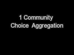 1 Community Choice  Aggregation