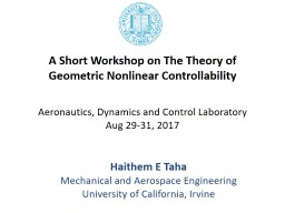 A Short Workshop on The Theory of
