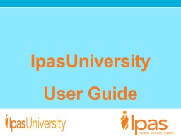 User  Guide  IpasU  L earning