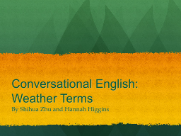 Conversational English: Weather Terms