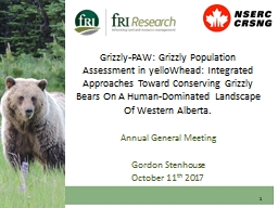 Grizzly-PAW: Grizzly Population Assessment in