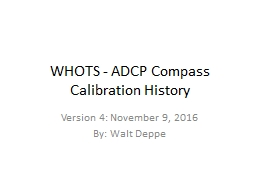 WHOTS - ADCP Compass Calibration History