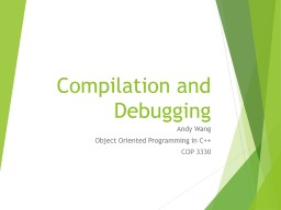 Compilation  and Debugging