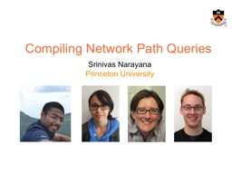 Compiling Network Path Queries