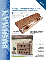 Bushman Connection Kit BCK for Above Ground Rainwater
