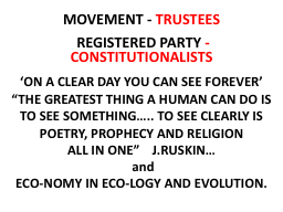 MOVEMENT -  TRUSTEES   REGISTERED PARTY
