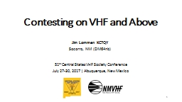 Contesting on VHF and Above