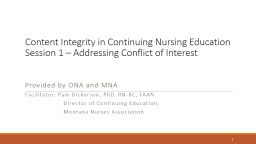 Content Integrity in Continuing Nursing Education