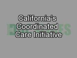 California's Coordinated Care Initiative