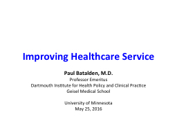 Improving Healthcare Service PowerPoint PPT Presentation