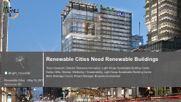 Renewable Cities Need Renewable Buildings