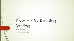 Prompts for Revising Writing